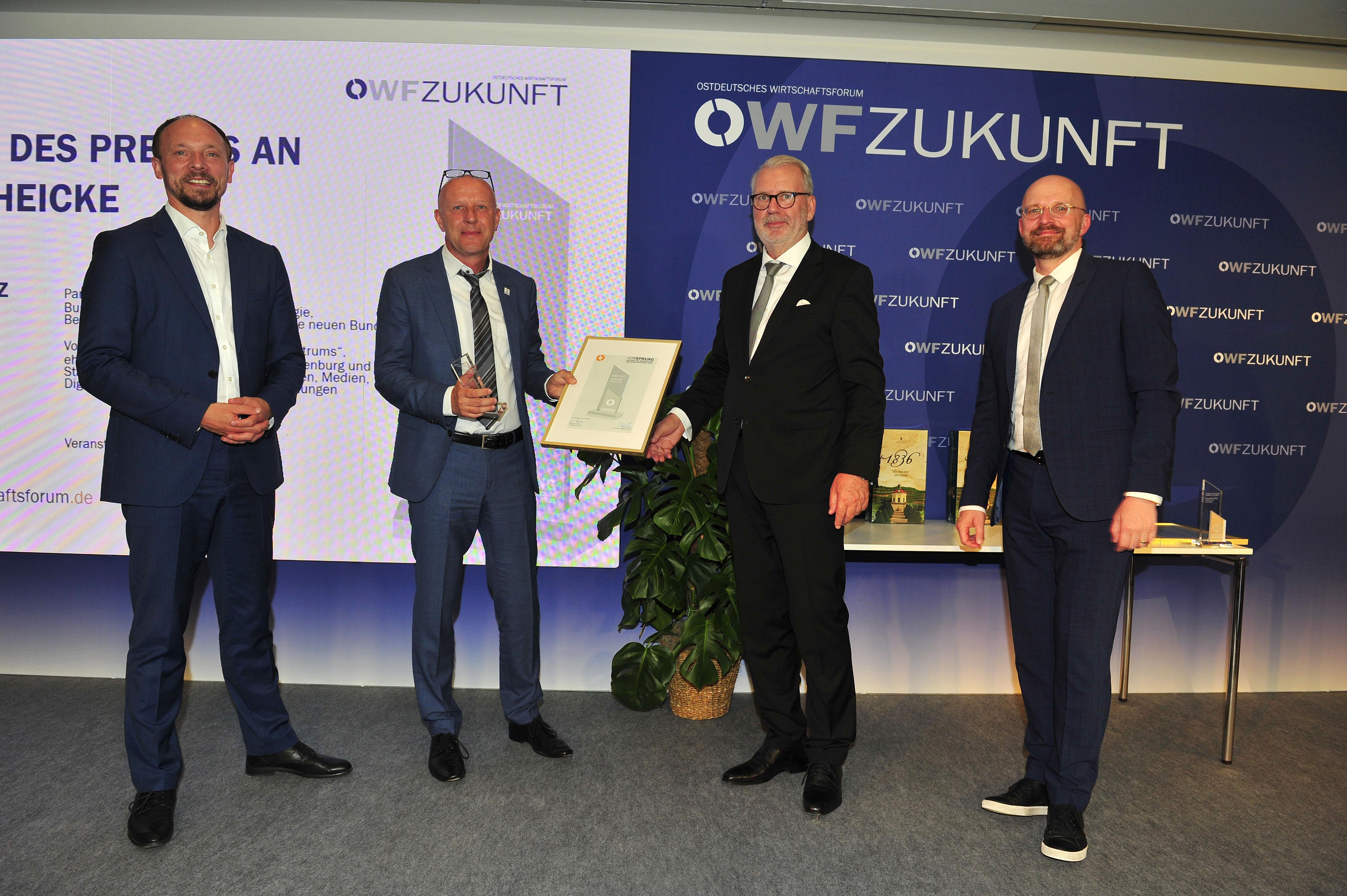 Medicare GmbH mit dem Preis des Ostdeutschen Wirtschaftsforums geehrt